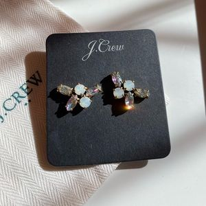 J.Crew Crystal stones and gold earrings. NW/OT